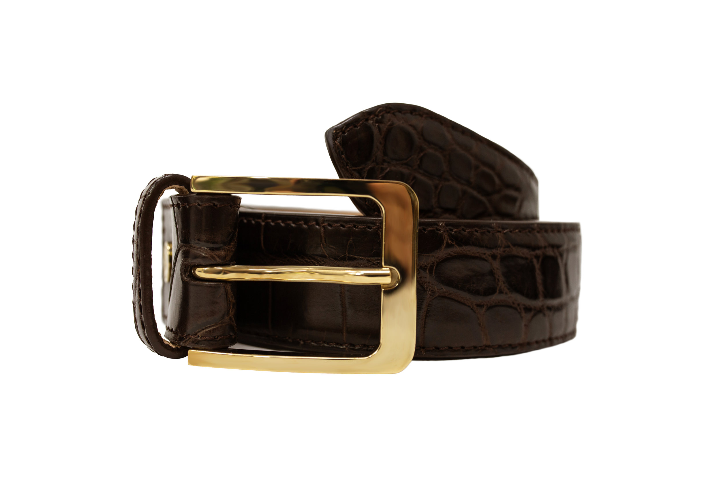 Calie Parese Luxury Crocodile Belt handcrafted from a single piece of Nile crocodile.