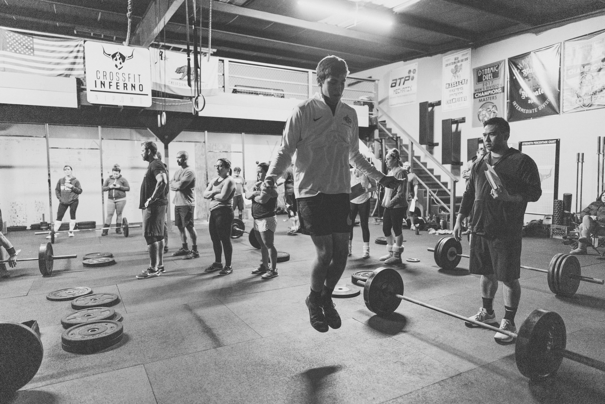 What is CrossFit? - Crossfit is constantly varied functional movements performed at high intensity. But what does that mean.... its a fitness regimen developed to prepare you for real life moments; from picking your child up off the floor to helping a stranger push their car to the side of the road. We blend a healthy mix of gymnastics, weightlifting, running, rowing and more. workouts are done in group sessions programmed to scale any ATHLETES fitness level.