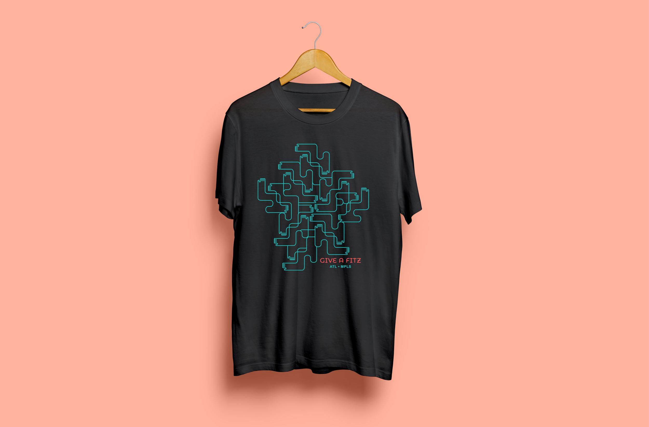 T-shirt design for Fitzco's community service initiative