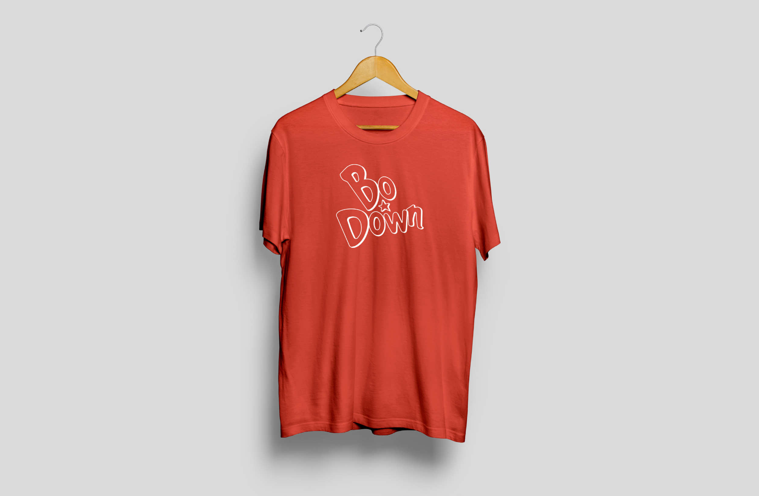 Bo Down t-shirt design for prospective client pitch