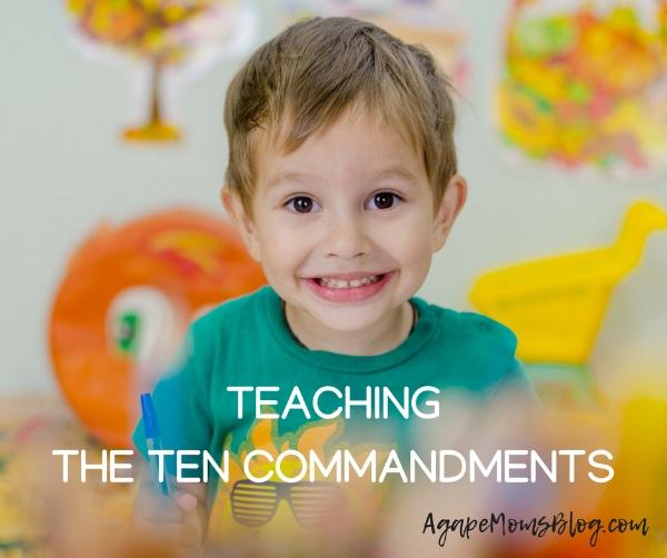 teaching kids the Ten Commandments