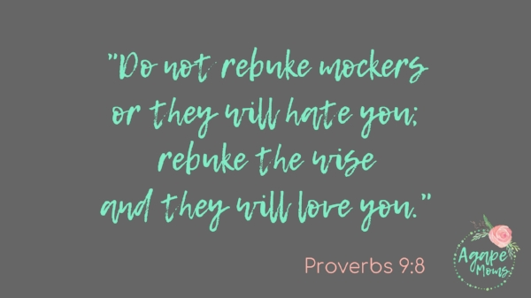 Do not rebuke mockers or they will hate you; rebuke the wise and they will love you..jpg