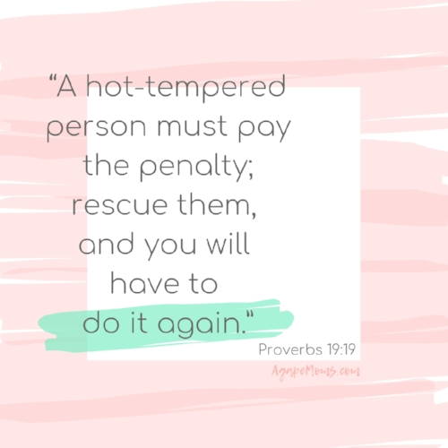 A hot-tempered person must pay the penalty; rescue them, and you will have to do it again..jpg