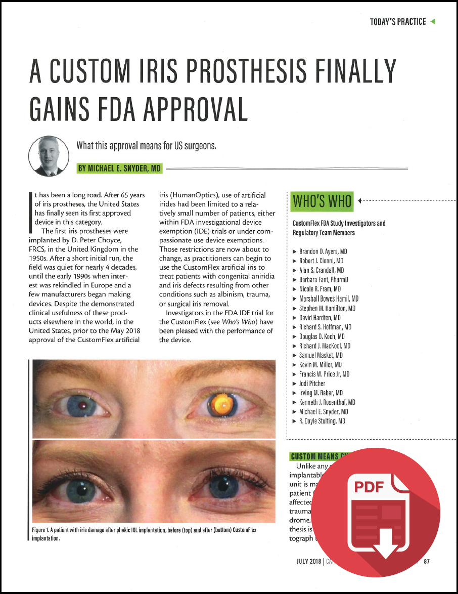 CATARACT & REFRACTIVE SURGERY TODAY – July 2018