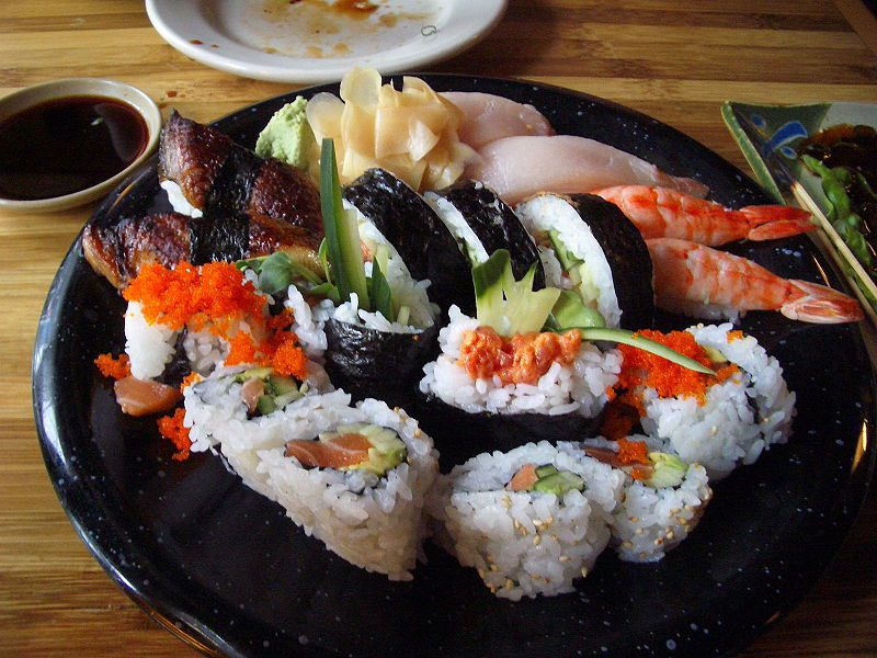 Of 82 percent of American respondents who said they would be willing to try insects, 43 percent ate sushi on a regular basis( Tom Harpel via Wikimedia Commons under CC BY-SA 2.0 )