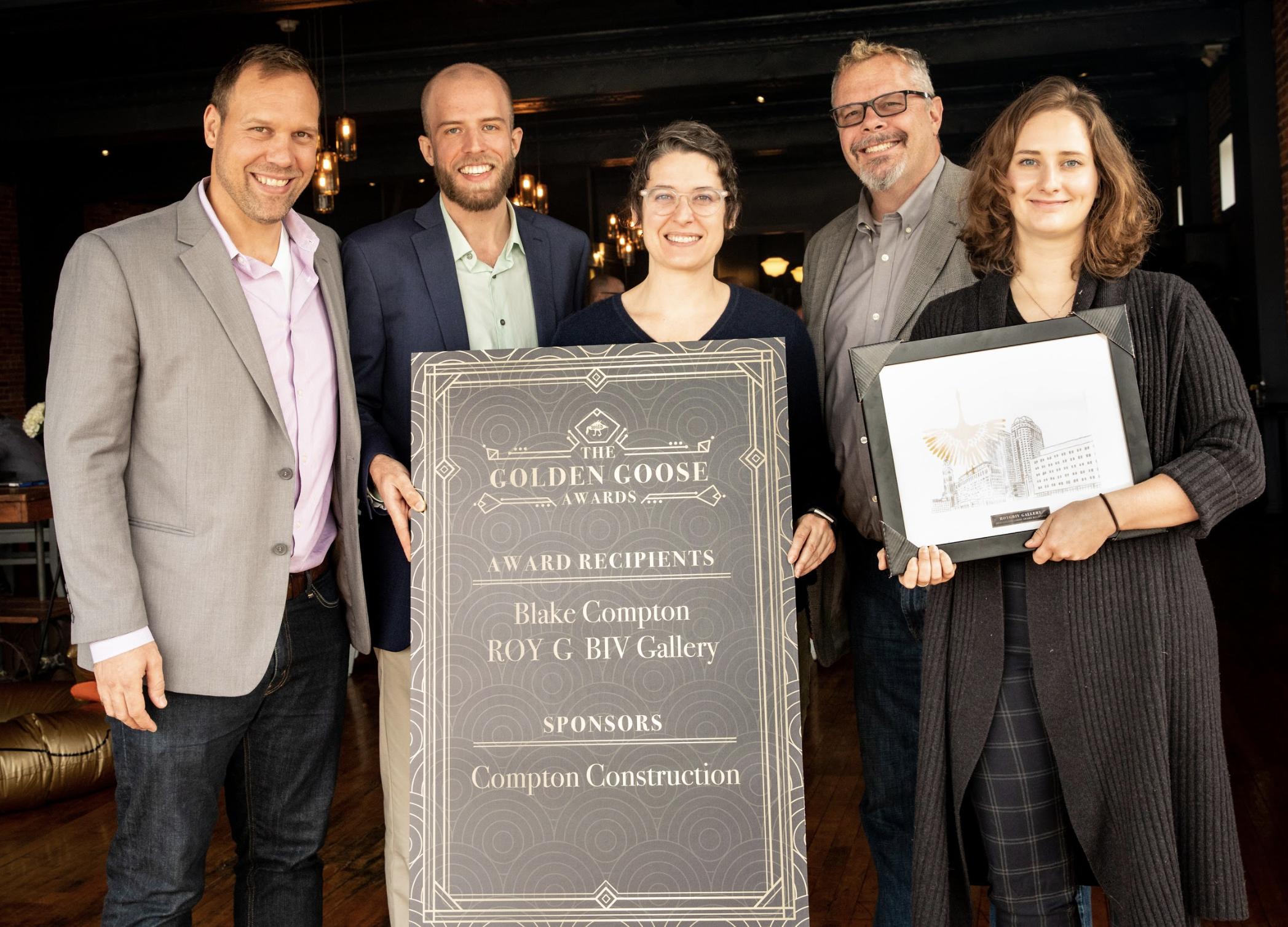 Roy G Biv Receiving their Golden Goose Award