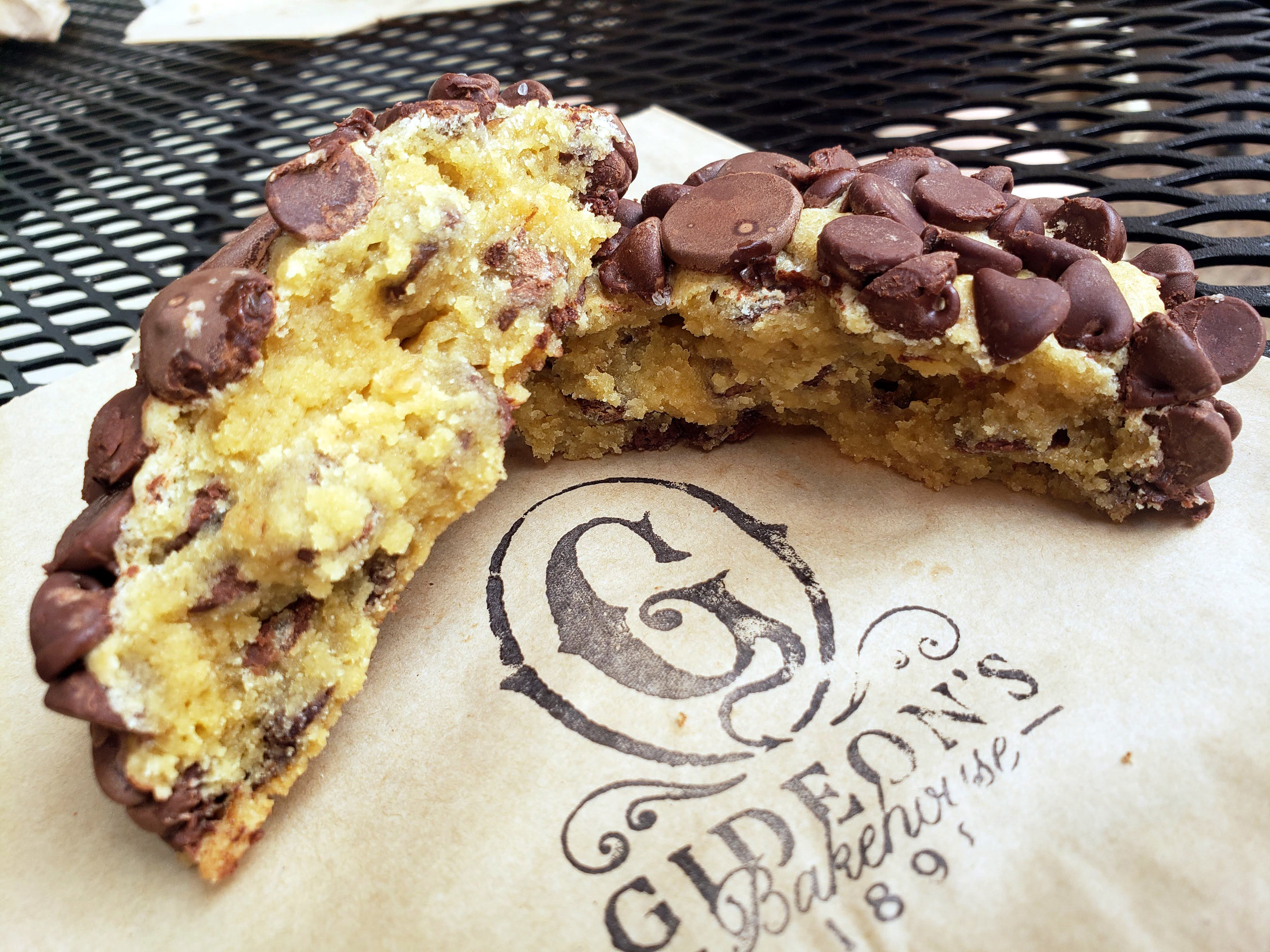 The Gideon's Bakehouse cookie is undercooked to perfection.