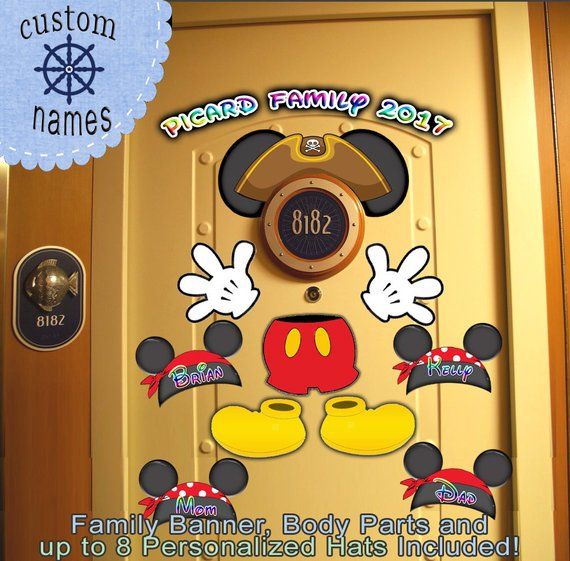 $9.99 Pirate Disney Cruise Door Magnet