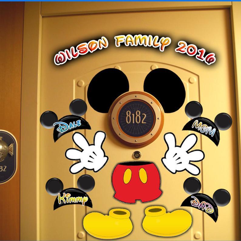 Disney Cruise Door Magnets by Rain