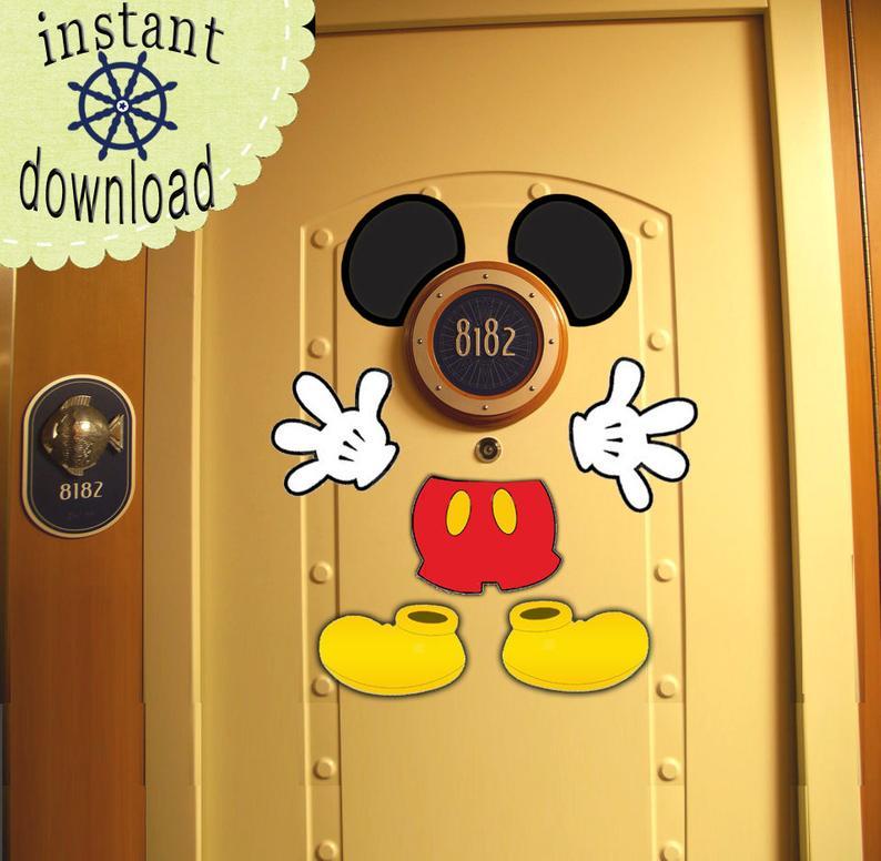 Classic Mickey Instant Disney Cruise Door Download: Create Your Own Disney Cruise Door Magnets!