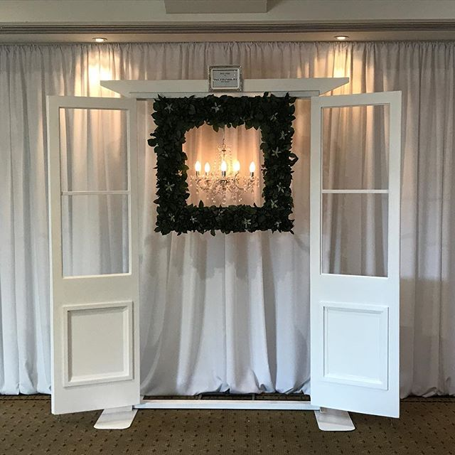 Our Door Arbour can be used as a backdrop, for your ceremony or as a photo booth #specialoccasionswa #weddingstyling #perthbrides #perthevents #backdrop #perthweddings #weddingceremony #arbour #weddingarbour