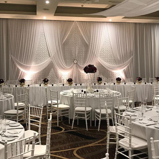 Sweeping Floral backdrop with mixed burgundy florals and pops of gold @vinesresortweddings #specialoccasionswa #weddinginspo #weddingstyling #perthevents #perthbrides #eventstyling #weddingbackdrop #backdrop #weddingdecor
