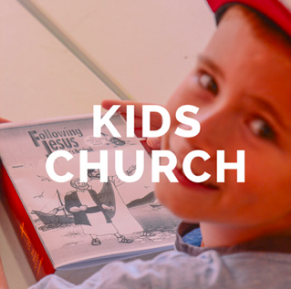 Preschool (3yrs+) to Year 6 school   Kids Church aims to grow kids in their love and understanding of God and Jesus. Led by our trained and dedicated leaders, kids enjoy bible based teaching, songs, games and fun each Sunday during our 9:45am service.