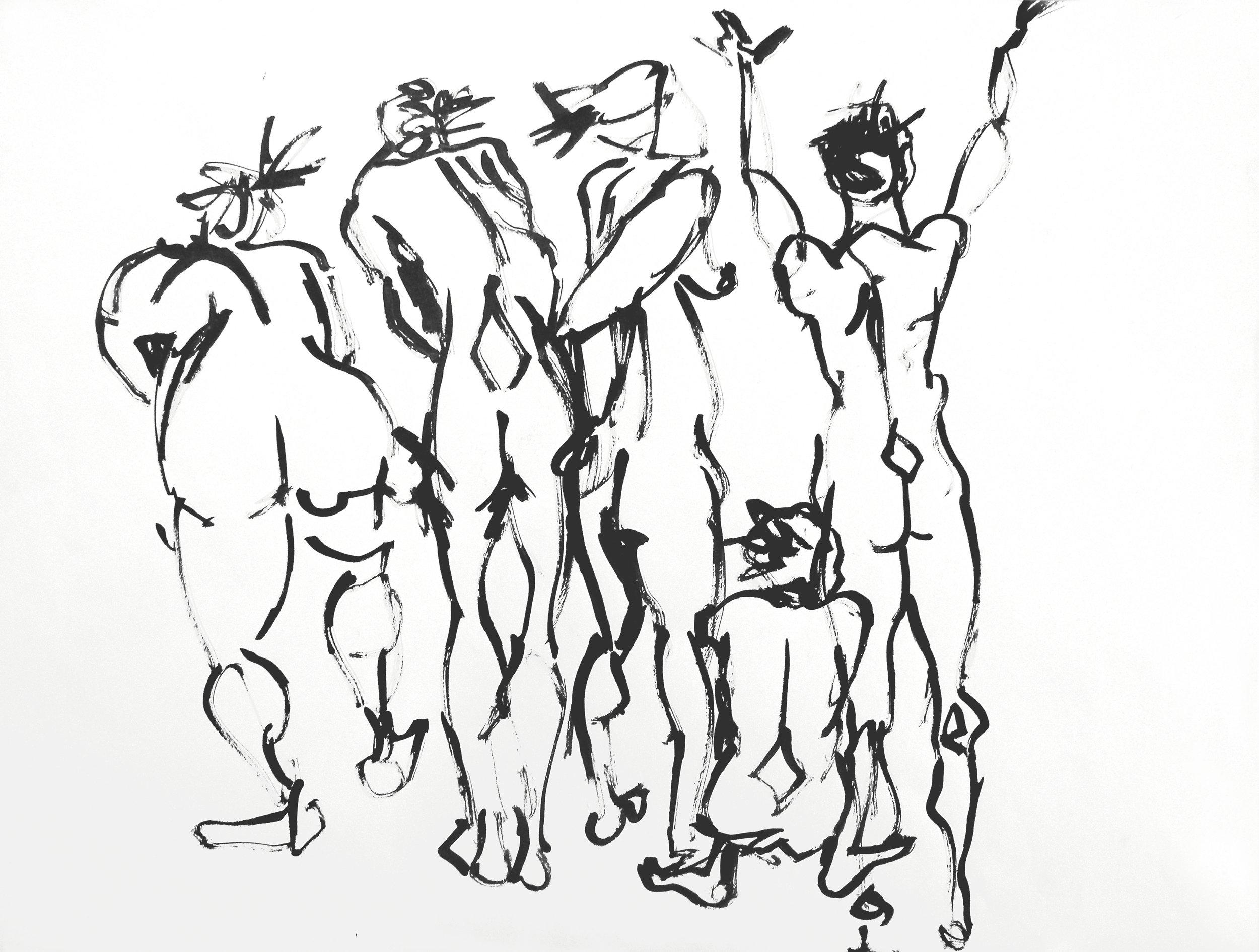 DRAWINGS - Gestural nudes