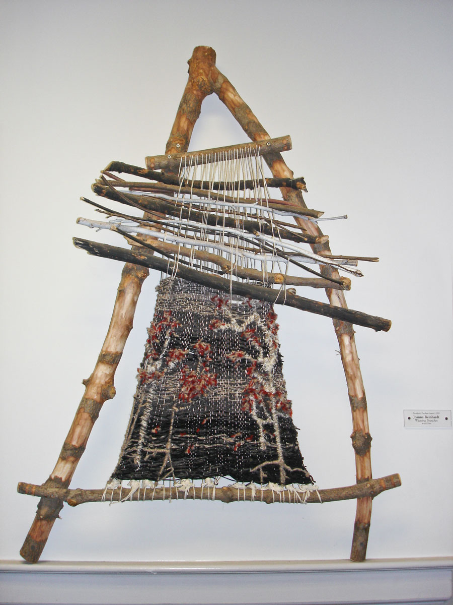 Joanna Reinhardt. The first piece I saw that inspired me to weave on branches over 10 years later.