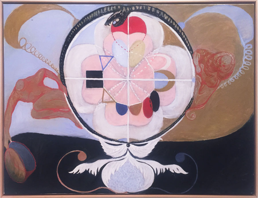 """Hilma af Klint  used a """"mediumistic"""" approach to painting, which basically means she channeled all this. What's coming through now when you open your channels?"""