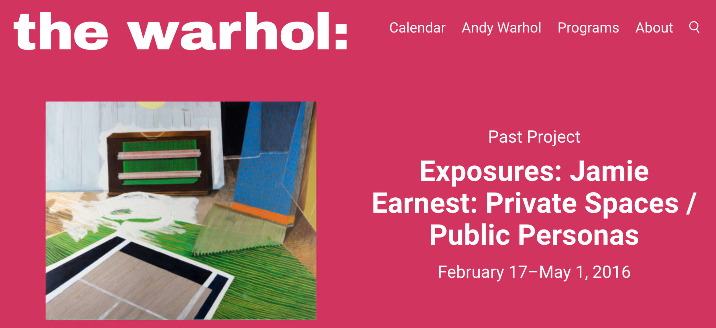 Private Spaces / Public Personas opens at The Andy Warhol Museum February 17th as part of the Exposure series - February 2016