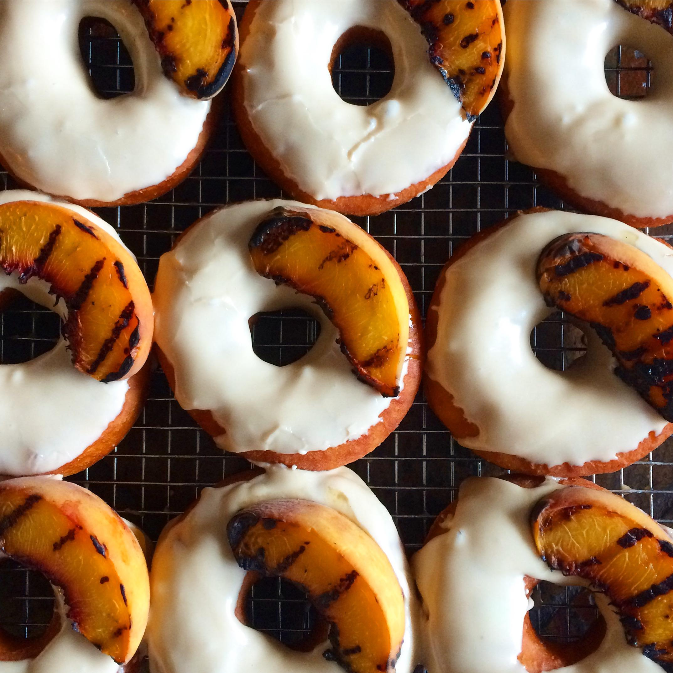 Vanilla Bourbon Glazed with Grilled Peach