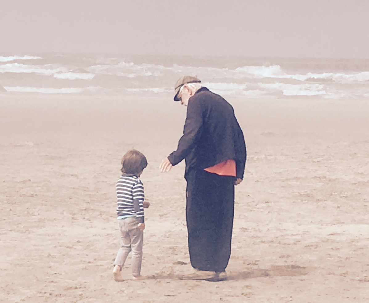 Diego and his Grandpa Van on the beach in Oregon (1).jpg