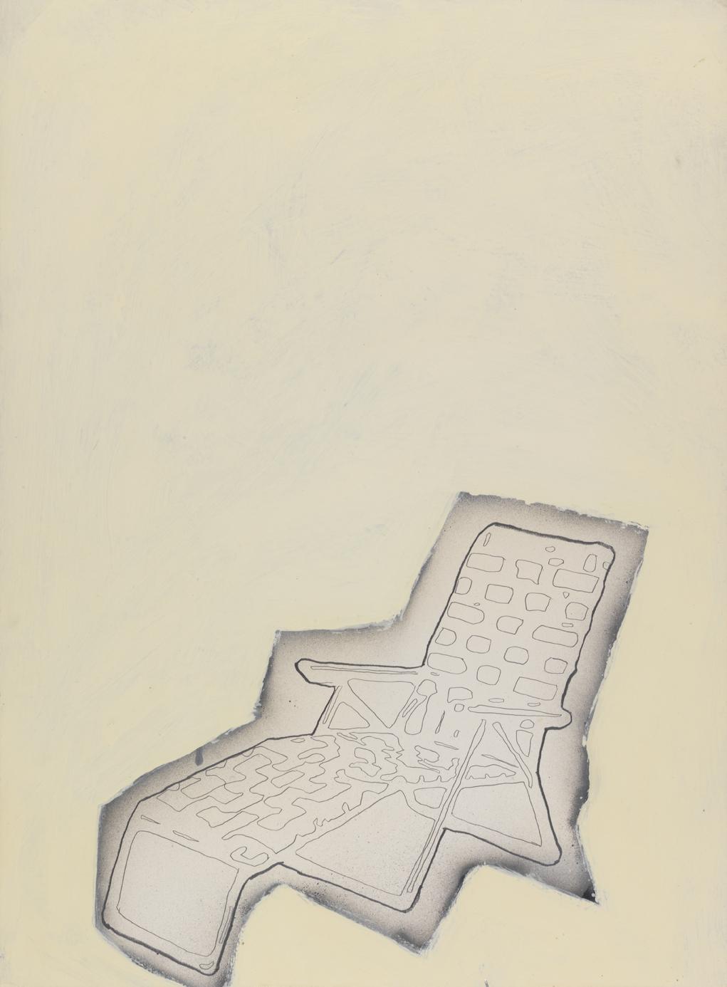 Resort Group   1980  graphite, spray enamel and oil-based enamel on paper  30 x 22 in / 76.2 x 55.9 cm
