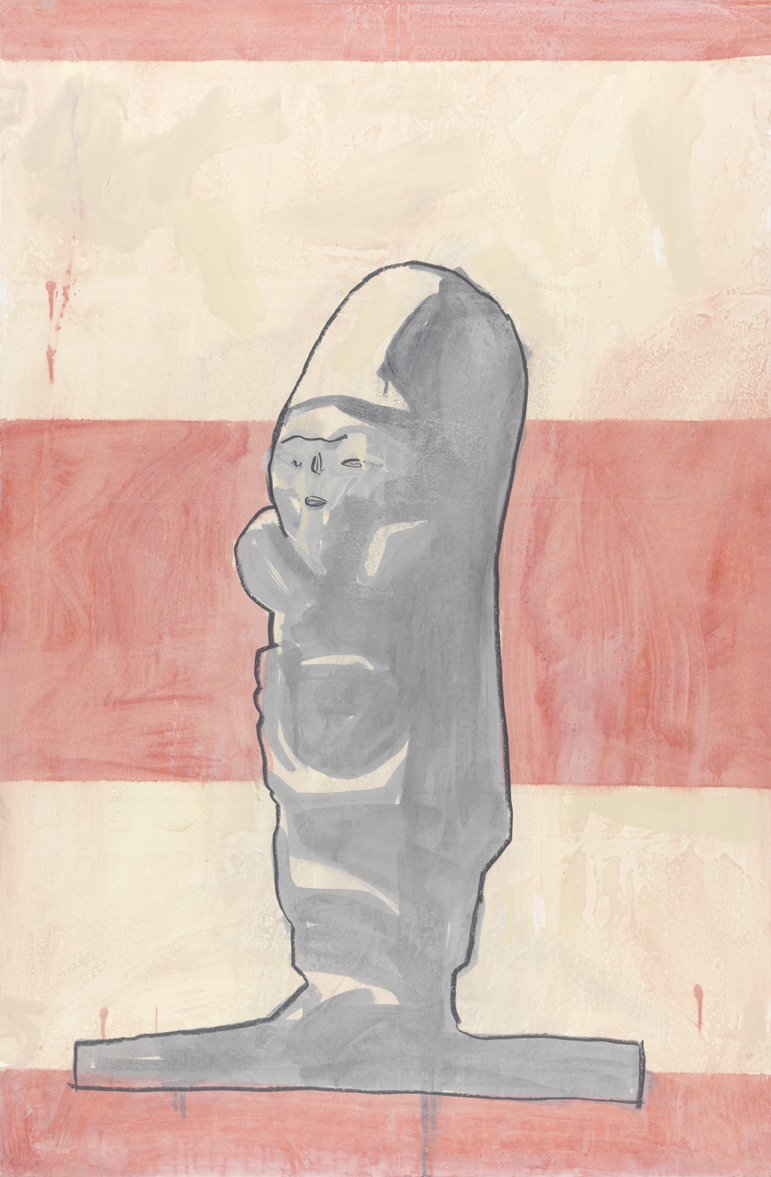 New Iberia   1981  graphite and oil-based enamel on paper  40 x 26.25 in / 101.6 x 66.7 cm