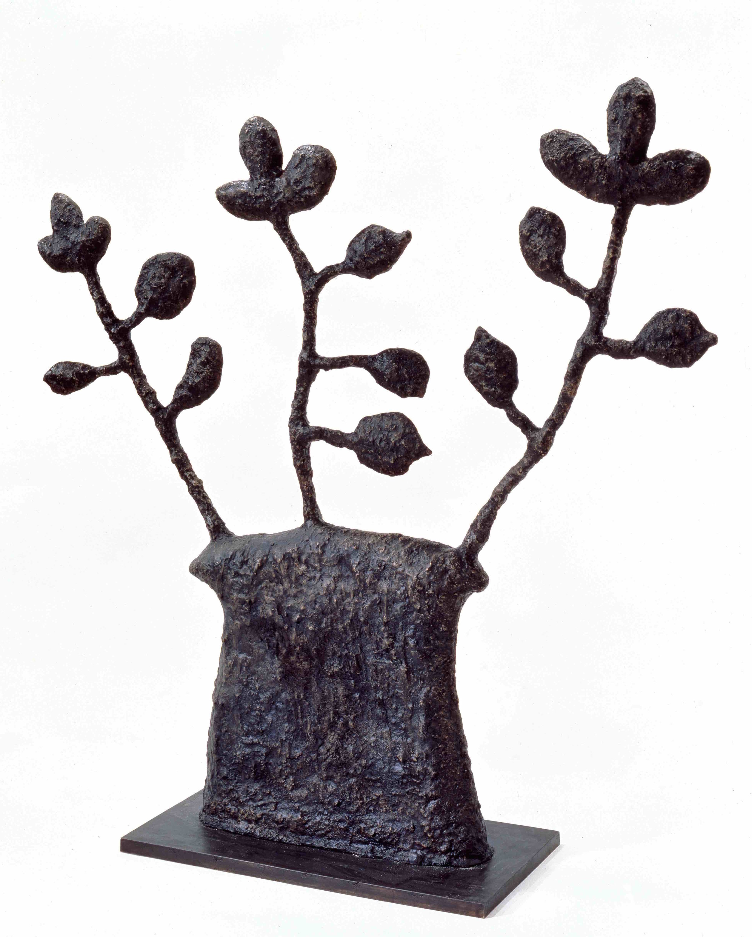 Donald Baechler   Untitled (Plant #1)   2003  cast bronze  59 x 57 x 19.7 in / 150 x 145 x 50 cm  Edition of 5 + 2 APs