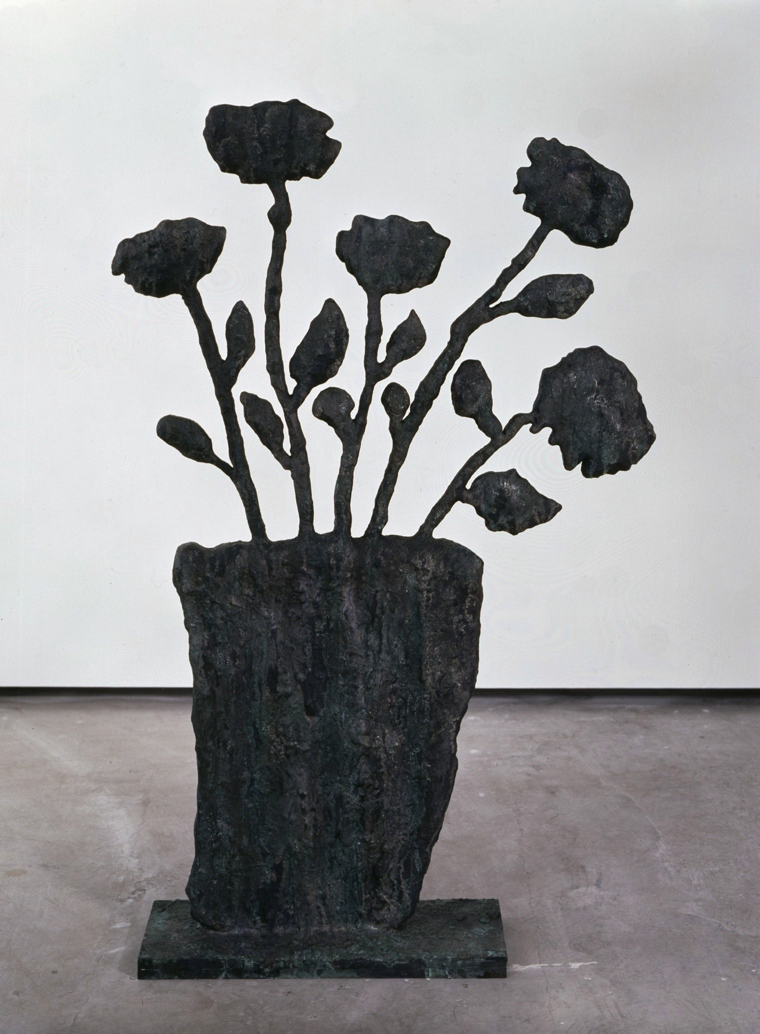 Donald Baechler   Untitled (Flowers)   2003-04  cast bronze  61 x 40 x 10 in / 155 x 101.6 x 25 cm  Edition of 8 + 2 APs