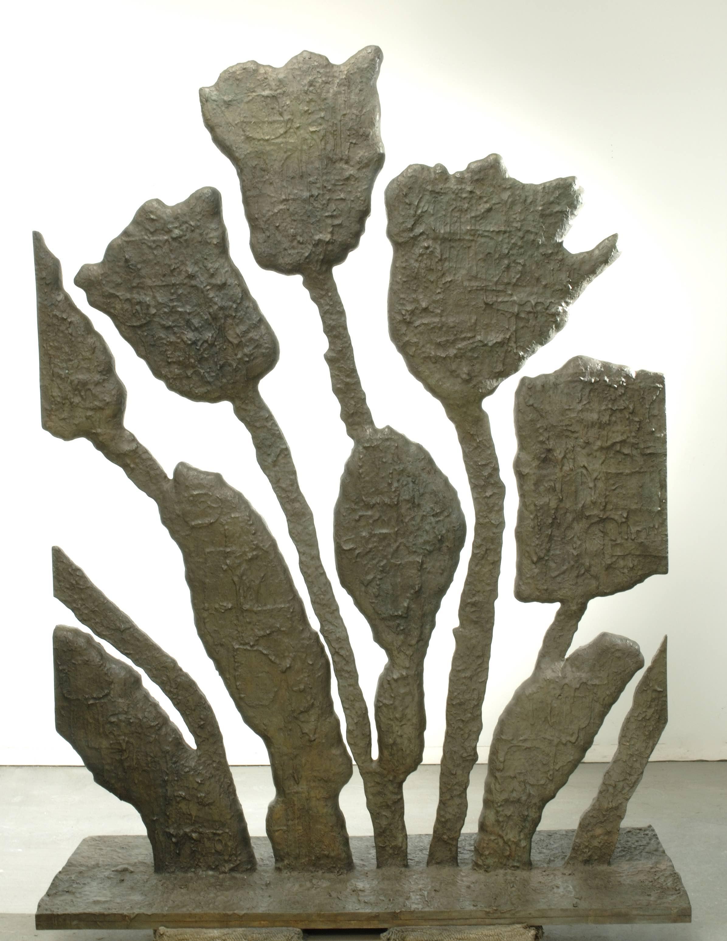 Donald Baechler   Flowers (Cut Sides)   2007  cast bronze  72 x 54 x 18 in / 183 x 137 x 46 cm  Edition of 8 + 2 APs
