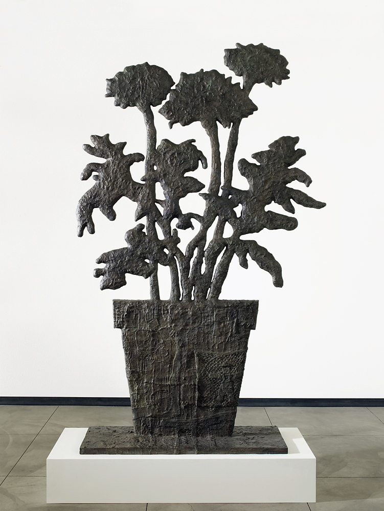 Donald Baechler   Tall Flowers   2007  cast bronze  96 x 60 x 3 in / 244 x 152.4 x 7.8 cm  Edition of 8 + 2 APs