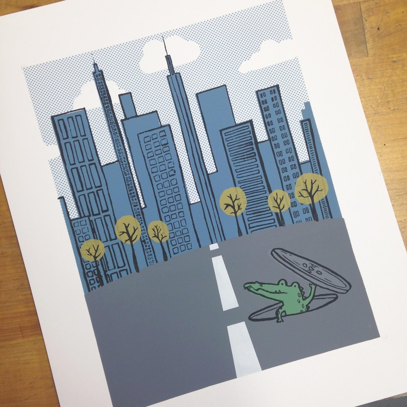 Software: Adobe Illustrator, 10 layer screen print