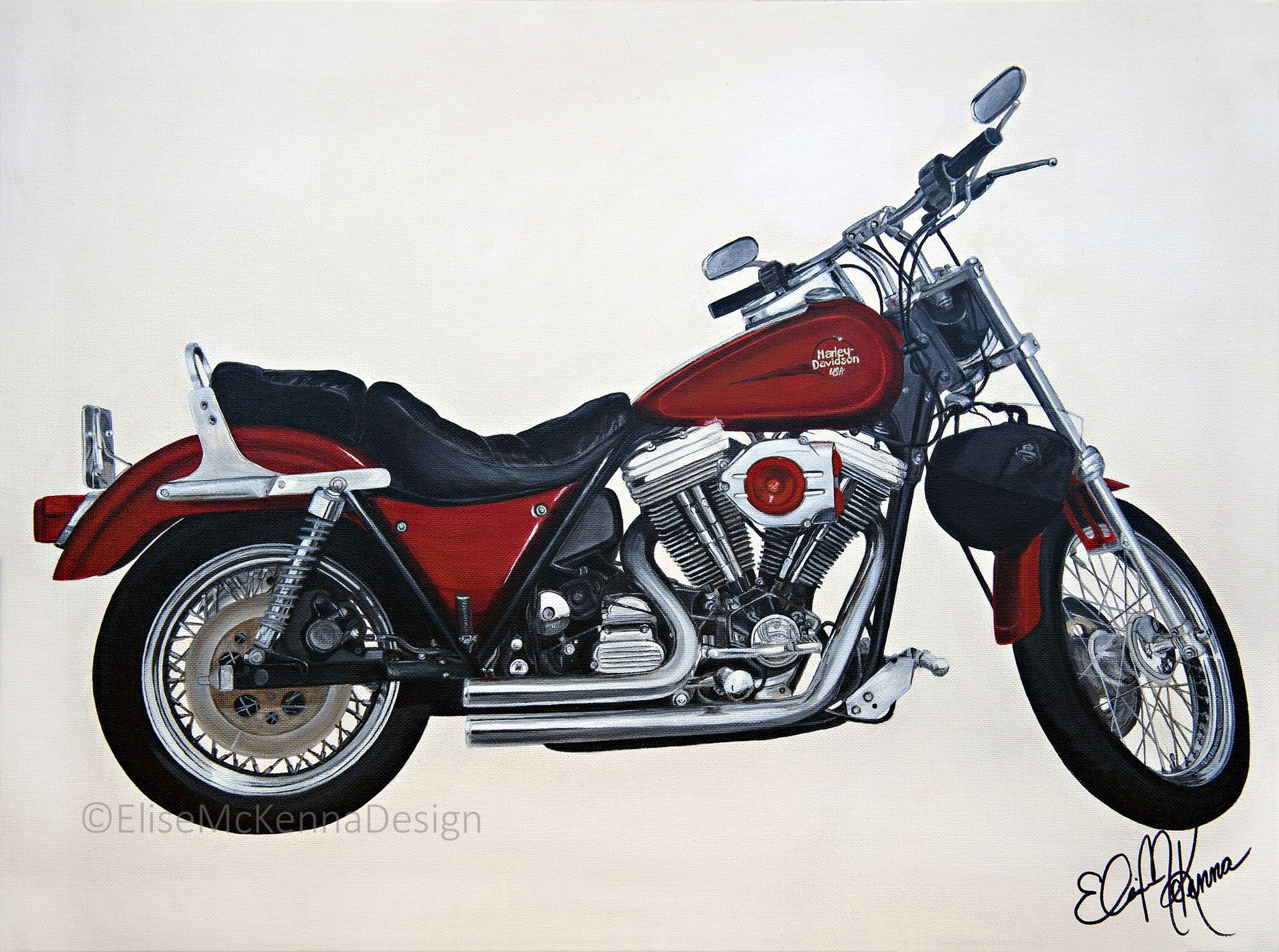 """""""Big Red""""   original: acrylic on canvas; 24 x 18 x .5"""" ($1800) ; prints available for sale"""