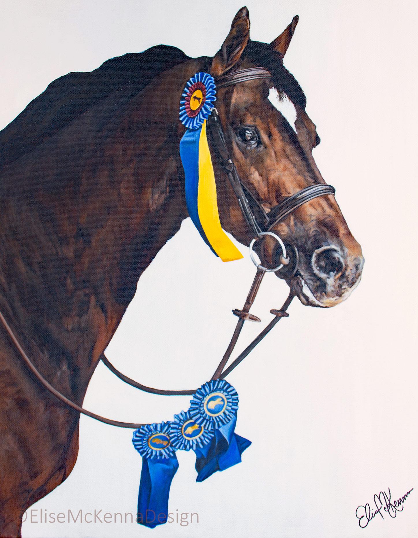"""Horse;  acrylic on canvas; 16 x 20 x 1"""""""