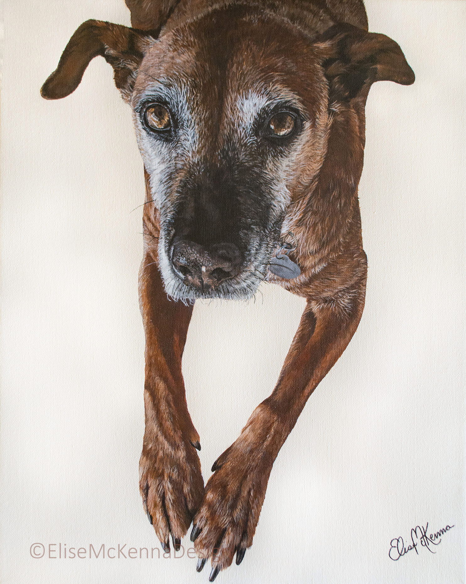 "Josie; acrylic on canvas; 16 x 20 x 1"""