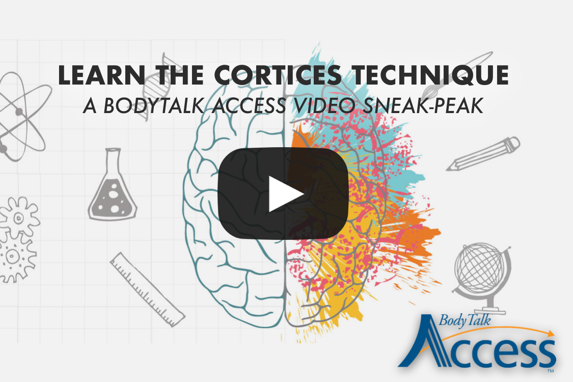 1. CORTICES TECHNIQUE   The Cortices technique is designed to improve the communication between the two halves of the brain. (Think of it as hitting the reset button on your brain's computer.) This improves the brain's efficiency - in thinking ability, memory and concentration, stress reduction and enhances relaxation.