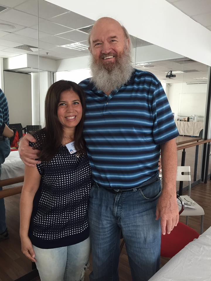 Angie Tourani with Dr. John Veltheim, founder of the BodyTalk System.