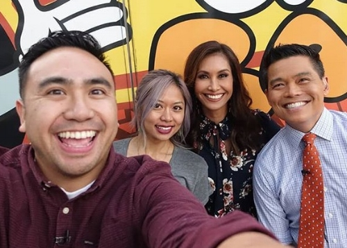 Eat Play Move's Rayson Esquejo and Lauren Delgado, and Fox LA's Maria Quiban and Bobby DeCastro.