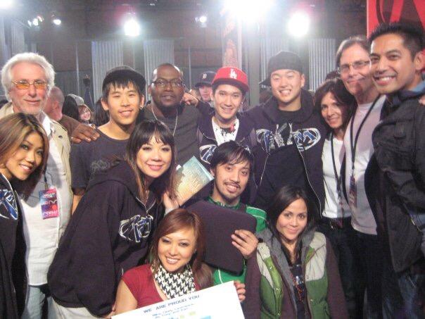 Kaba Modern backstage at MTV's America's Best Dance Crew