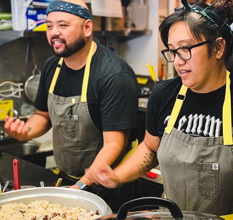 Chef AC Boral and sous chef Janice Dig Cabaysa