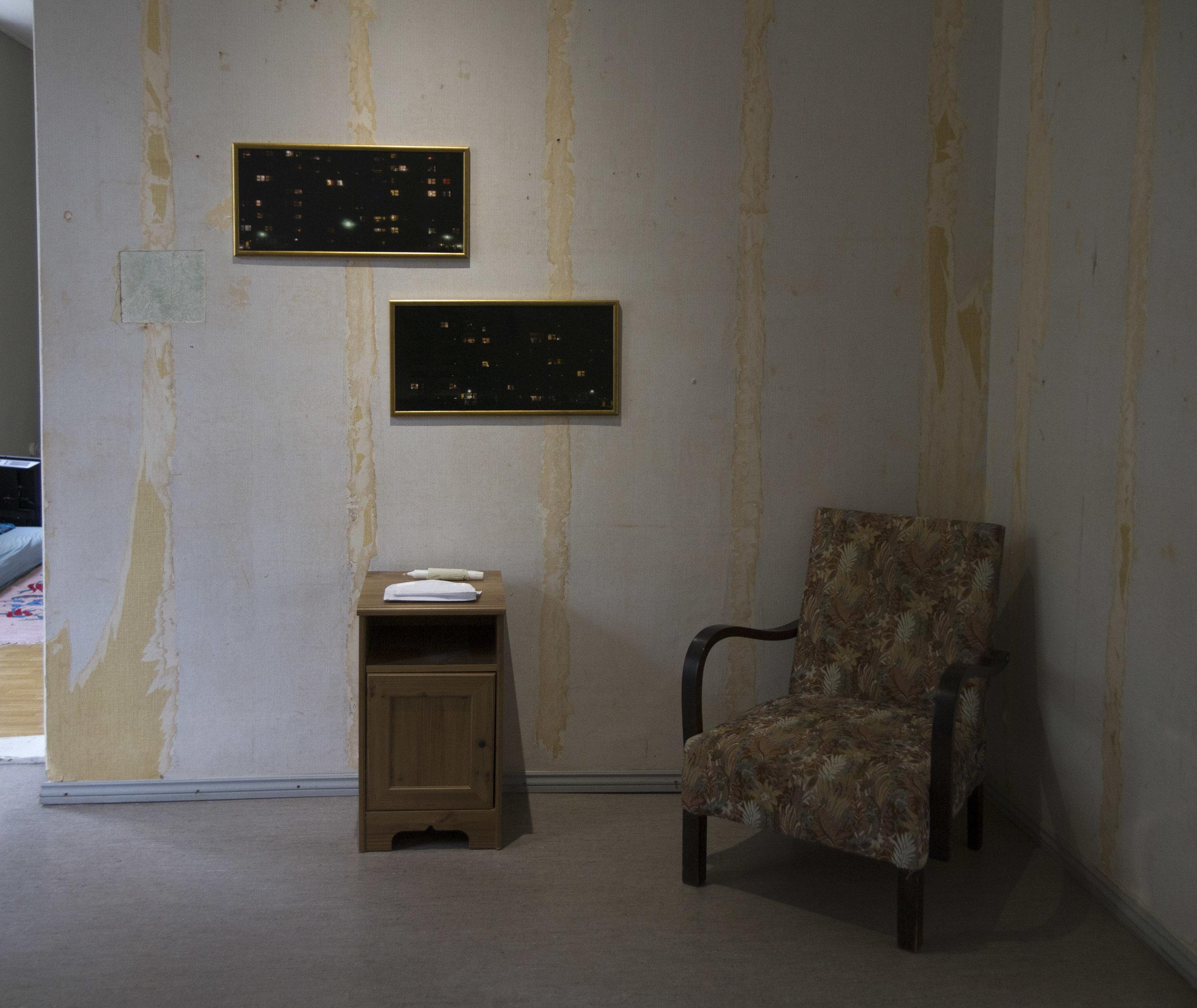 Installation view: Heikki Heinonen:  Loistava talo  (2014)