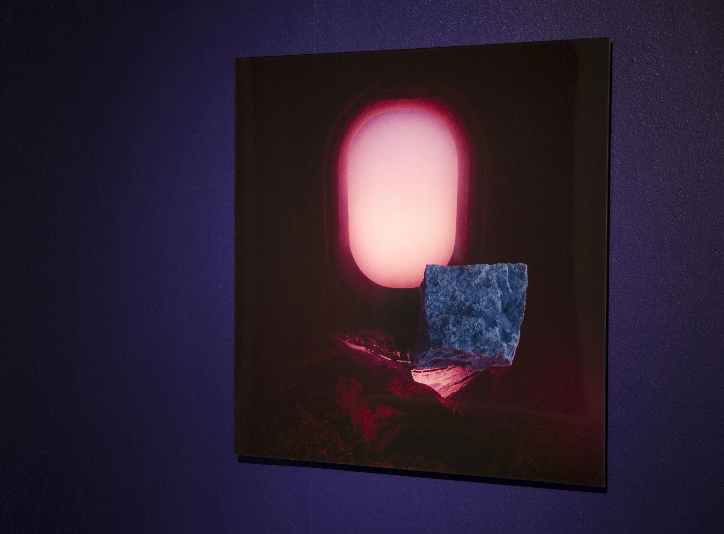 Installation view:  18F (window) , 2017, 62x62cm, diasec