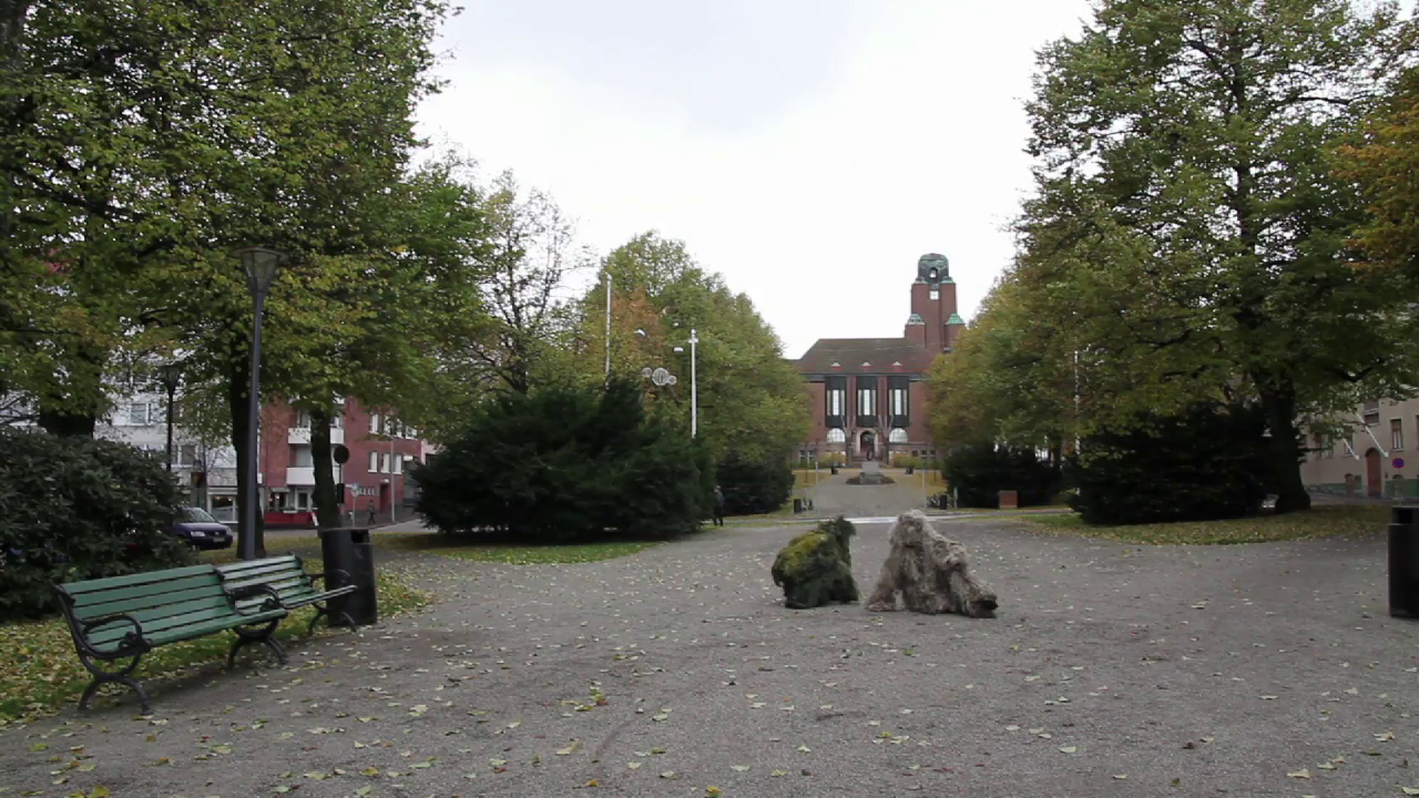still from video documentation: public intervention in Lahti, Finland