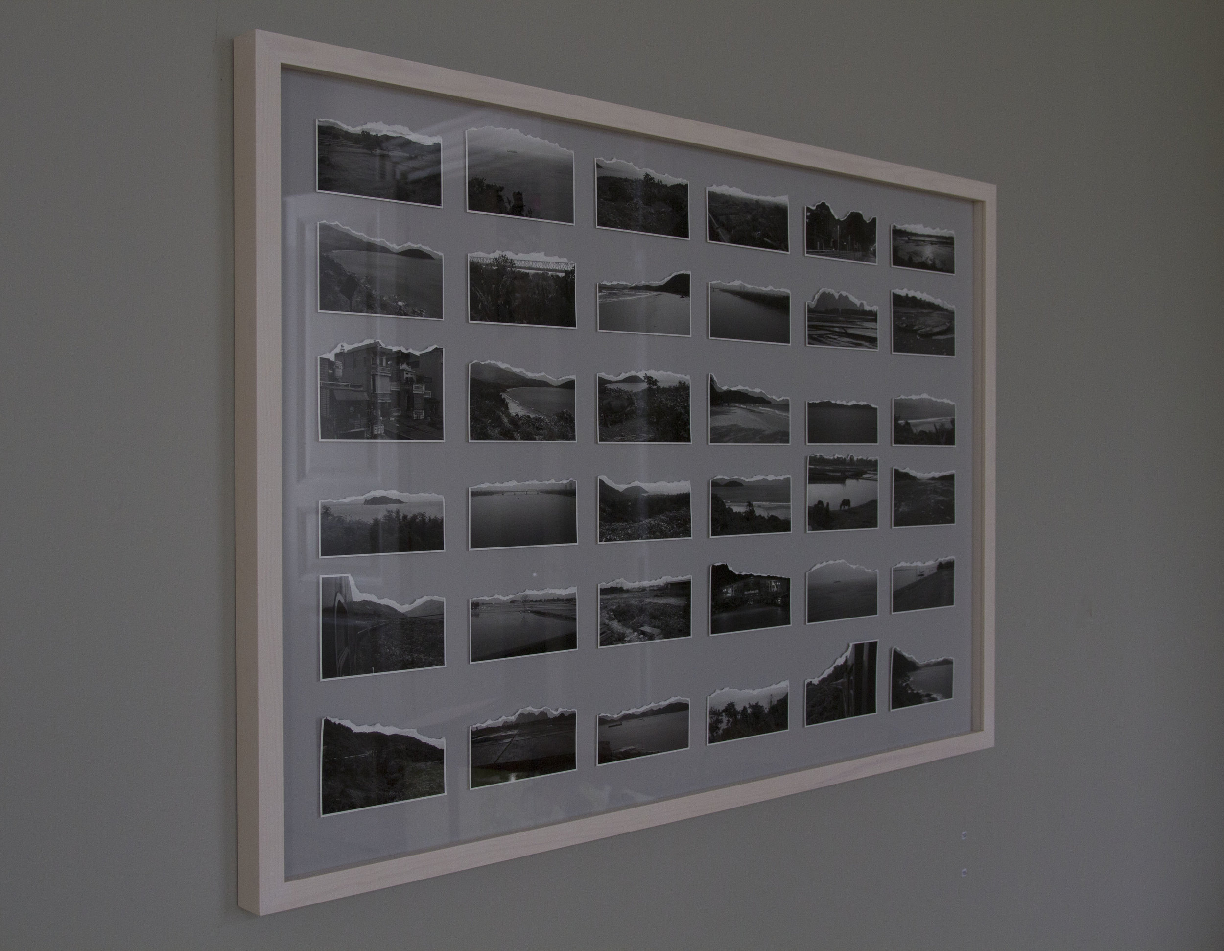 Installation view:  On an Earth Condemned to Matter  (2016), pigment print, framed, unique, 80 x 120cm