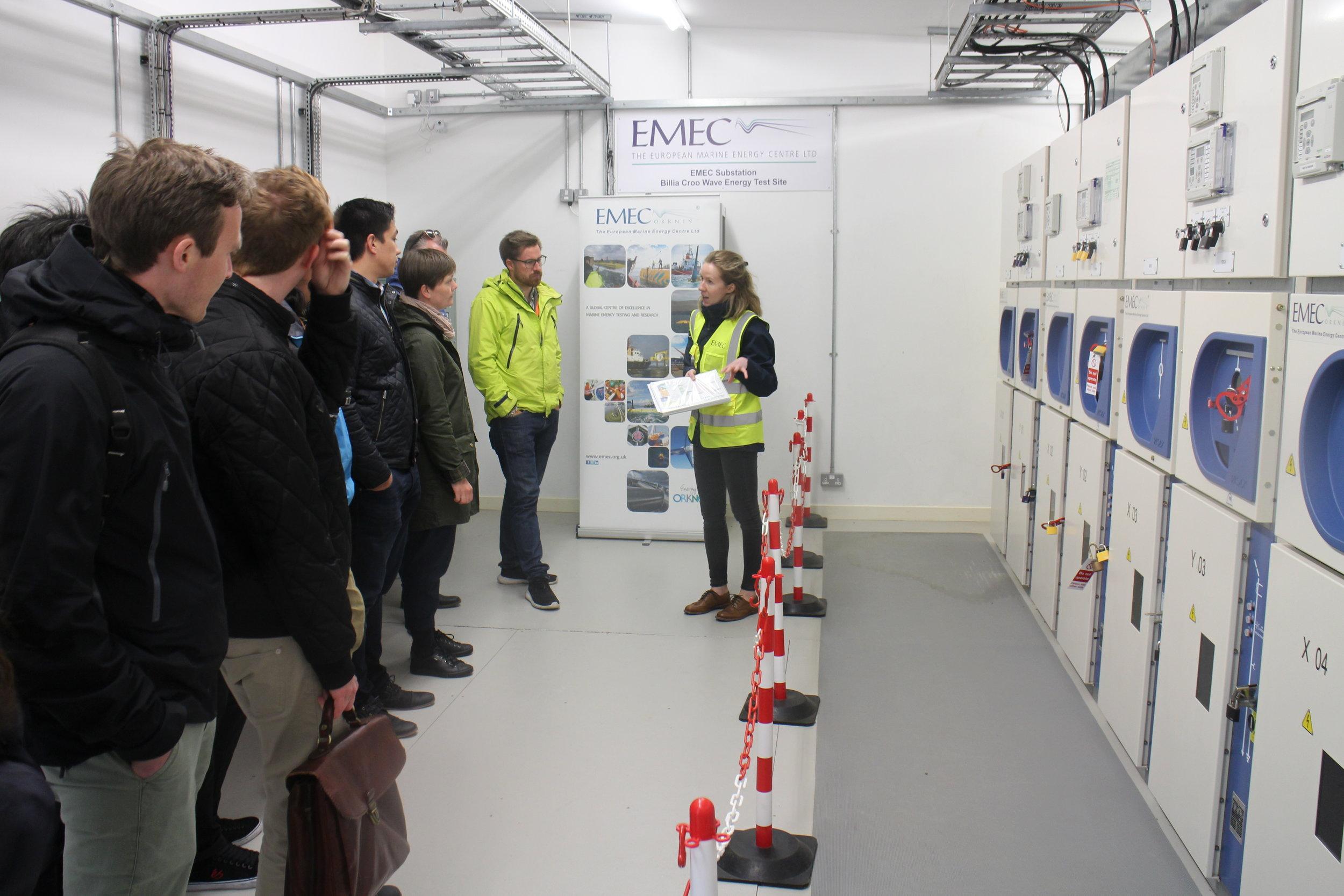 Inside the EMEC substation (photo Mark Purkis)