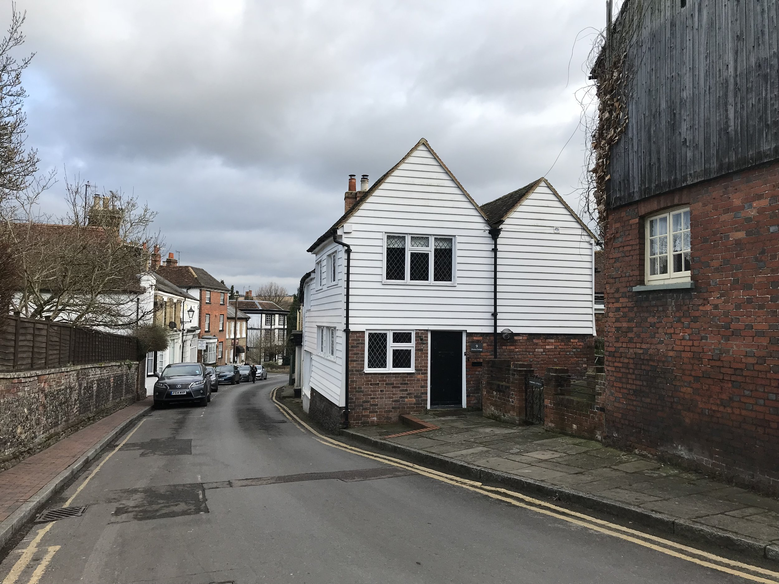 Twin gables are a common feature for housing throughout Kent, and provide a defining point in the streetscape here. -
