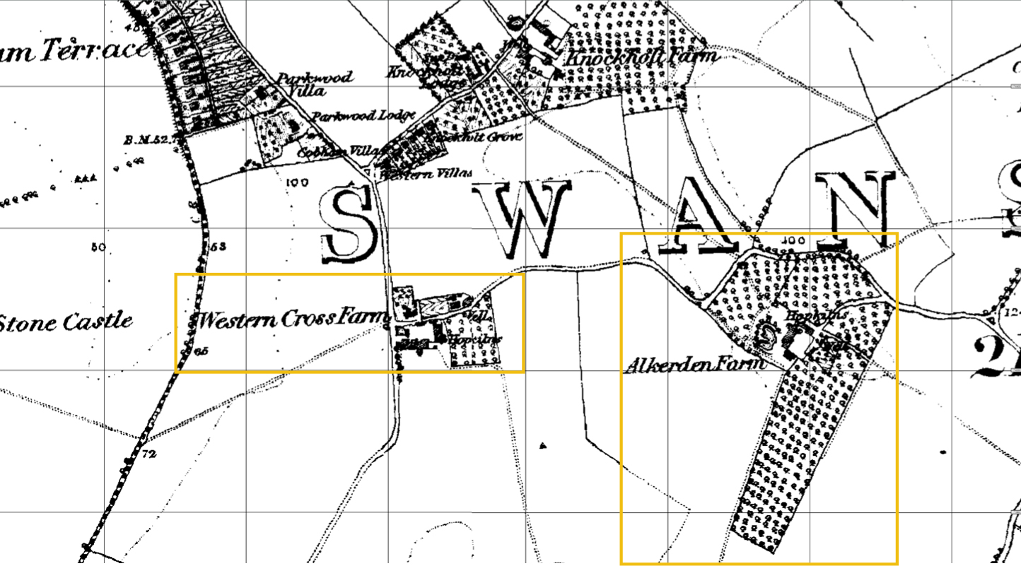 1872 Map Swanscombe © Crown copyright and Landmark Information Group Limited 2018. All rights reserved.