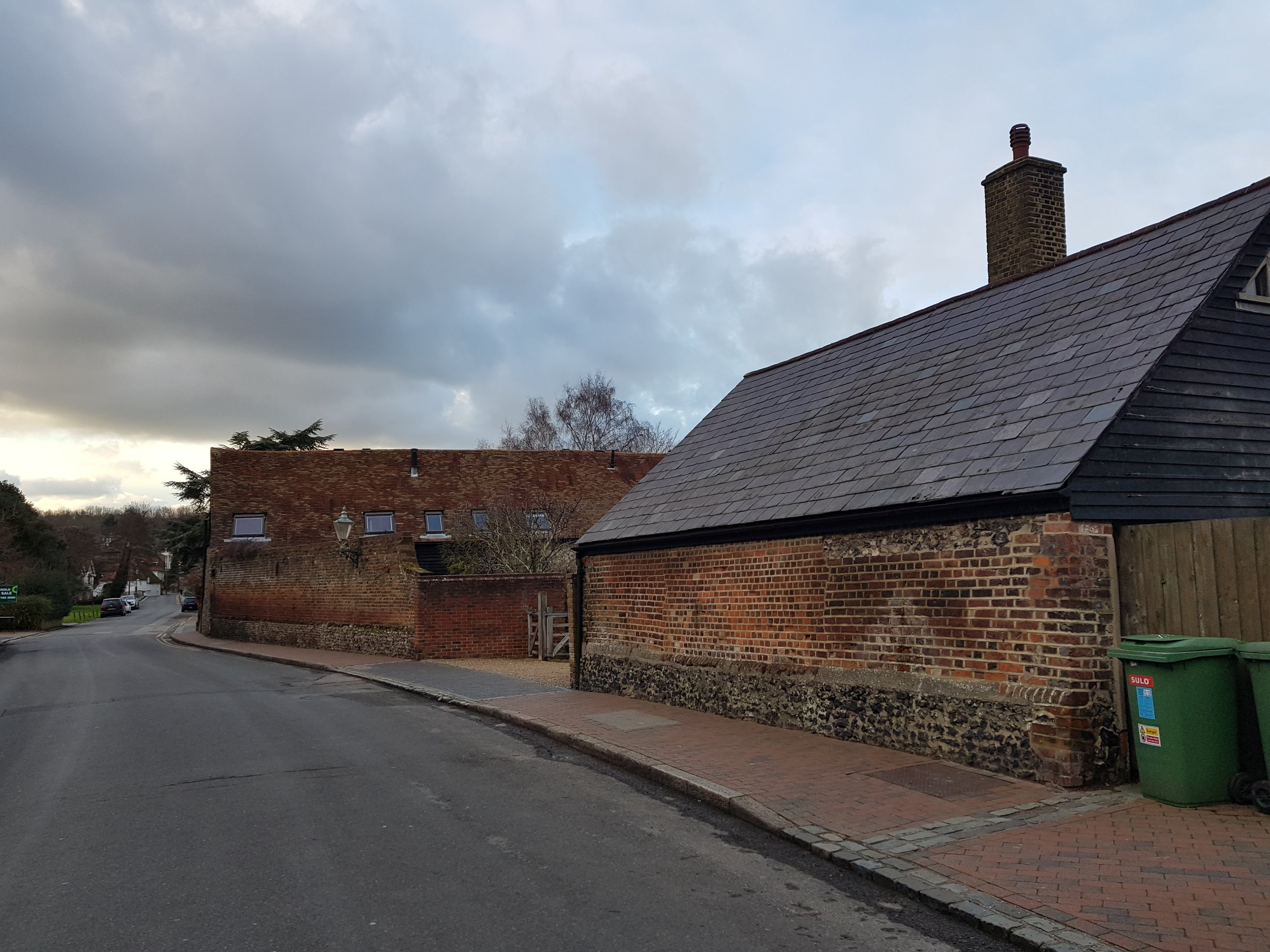 Farmstead Farningham - forming the edge to the High Street. -