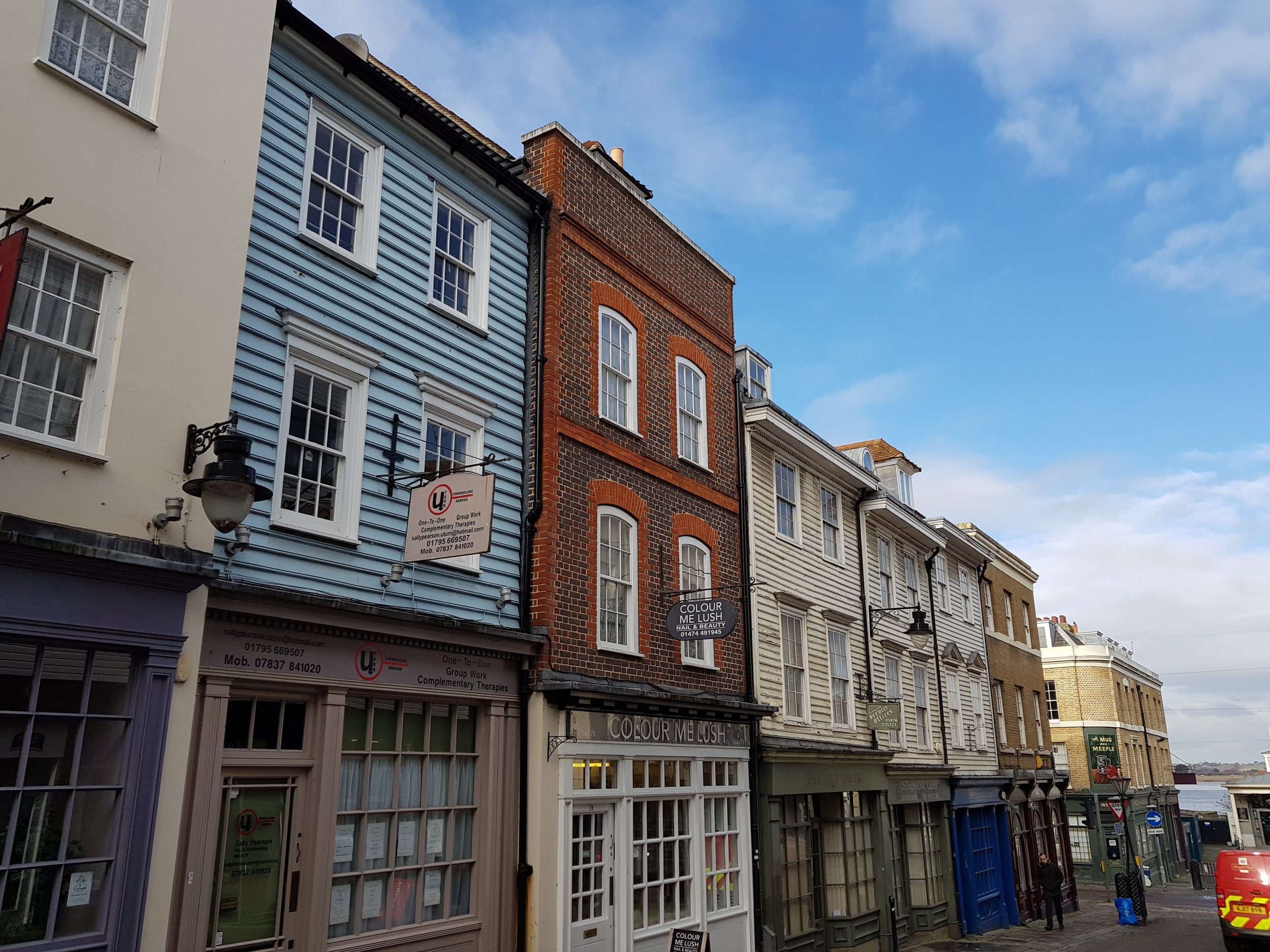 High Street - 3 storeys plus attic storey - mixed used ground level -