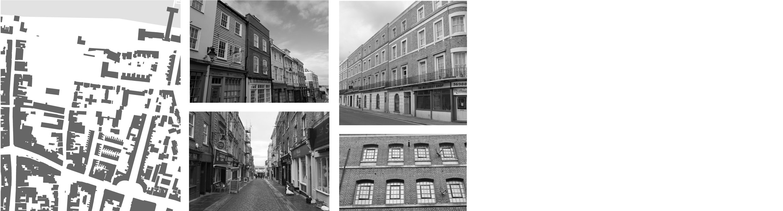 Memorable hierarchy of streets - Mixed use ground floors - Horizontal banding at floor levels