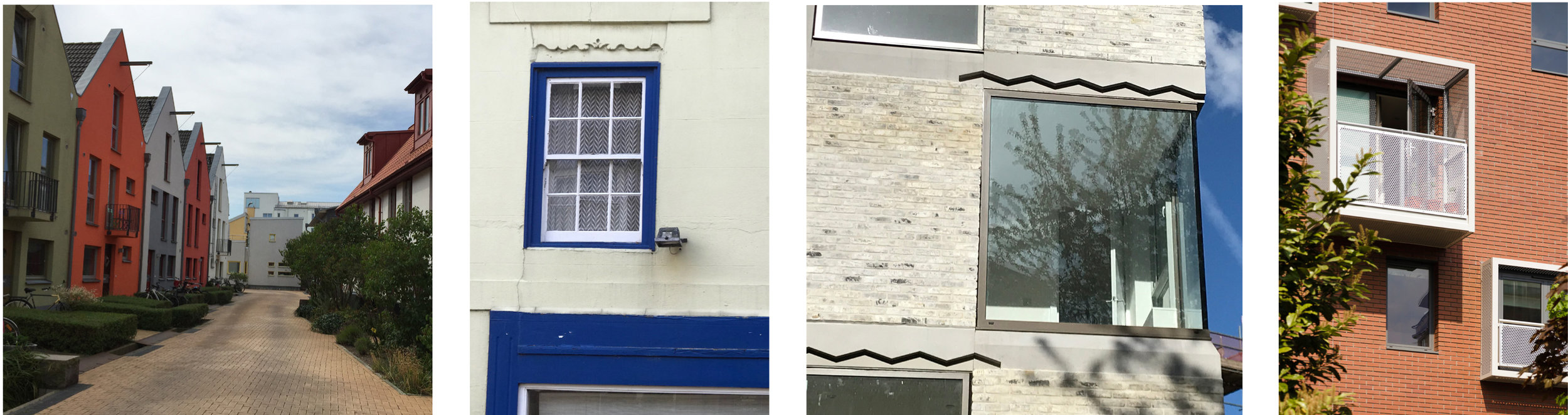 Specific and repeated architectural details could help to deliver a unique character to the architecture of the Fleet / Hythe