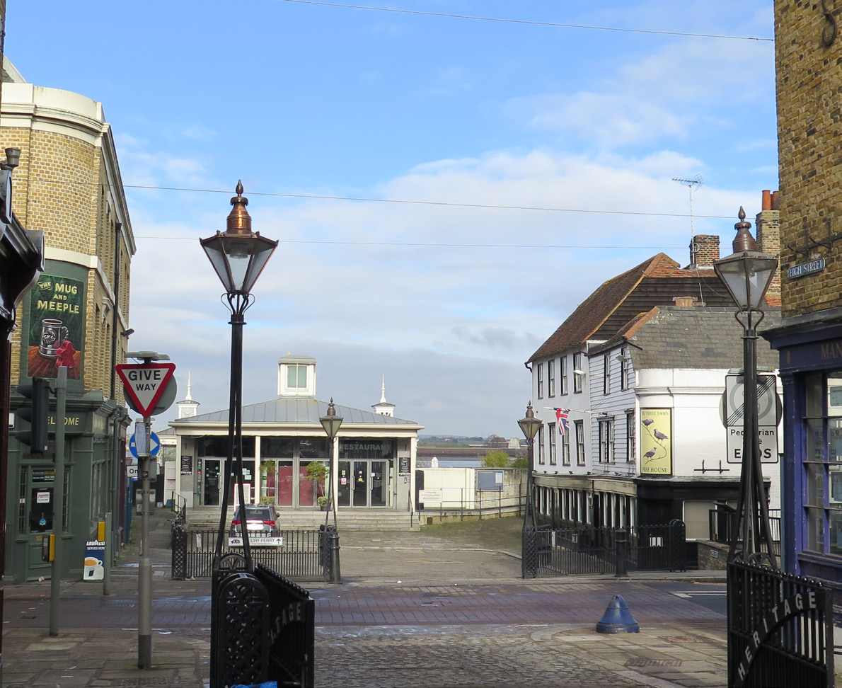 Northern end of High Street, looking onto the Pier in Gravesend Town Centre -
